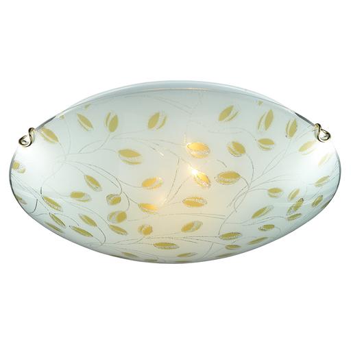 Потолочный светильник Sonex Etra 123/K, 2xE27x60W, золото, желтый, матовый, прозрачный, металл, стекло - фото 4