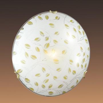 Потолочный светильник Sonex Etra 123/K, 2xE27x60W, золото, желтый, матовый, прозрачный, металл, стекло - миниатюра 5