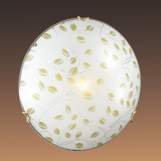 Потолочный светильник Sonex Etra 123/K, 2xE27x60W, золото, желтый, матовый, прозрачный, металл, стекло - фото 5