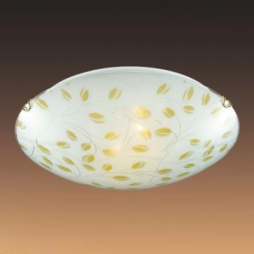 Потолочный светильник Sonex Etra 123/K, 2xE27x60W, золото, желтый, матовый, прозрачный, металл, стекло - миниатюра 6