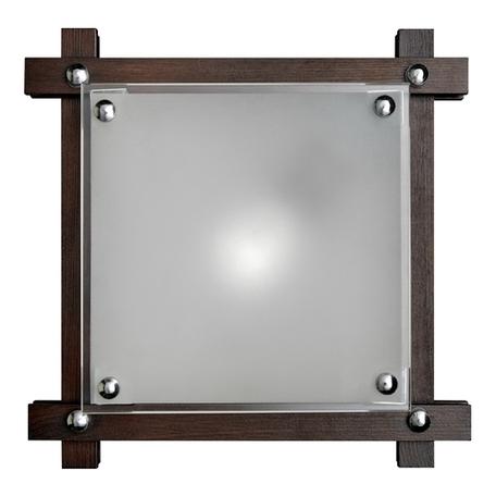 Потолочный светильник Sonex Trial Vengue 1241V, 1xE14x60W, венге, хром, матовый, прозрачный, дерево, стекло