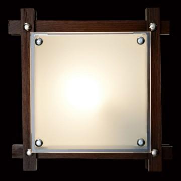 Потолочный светильник Sonex Trial Vengue 1241V, 1xE14x60W, венге, хром, матовый, прозрачный, дерево, стекло - миниатюра 2