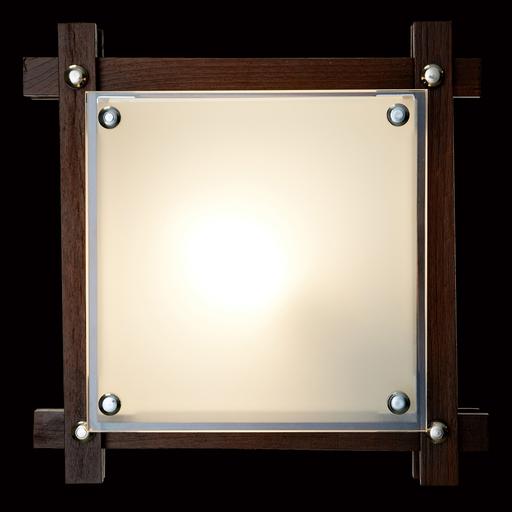 Потолочный светильник Sonex Trial Vengue 1241V, 1xE14x60W, венге, хром, матовый, прозрачный, дерево, стекло - фото 2