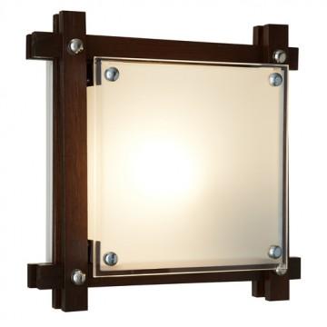 Потолочный светильник Sonex Trial Vengue 1241V, 1xE14x60W, венге, хром, матовый, прозрачный, дерево, стекло - миниатюра 3