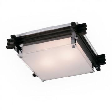 Потолочный светильник Sonex Trial Vengue 1241V, 1xE14x60W, венге, хром, матовый, прозрачный, дерево, стекло - миниатюра 4