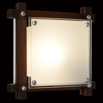 Потолочный светильник Sonex Trial Vengue 1241V, 1xE14x60W, венге, хром, матовый, прозрачный, дерево, стекло - миниатюра 5