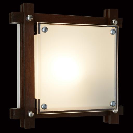 Потолочный светильник Sonex Trial Vengue 1241V, 1xE14x60W, венге, хром, матовый, прозрачный, дерево, стекло - фото 5