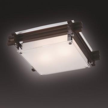 Потолочный светильник Sonex Trial Vengue 1241V, 1xE14x60W, венге, хром, матовый, прозрачный, дерево, стекло - миниатюра 6