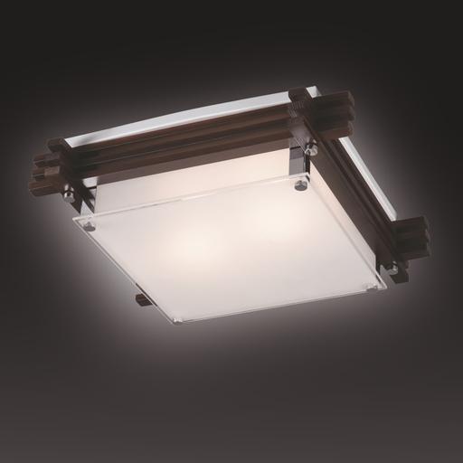 Потолочный светильник Sonex Trial Vengue 1241V, 1xE14x60W, венге, хром, матовый, прозрачный, дерево, стекло - фото 6