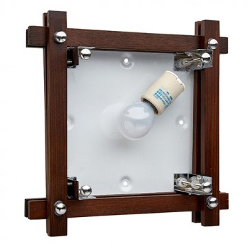 Потолочный светильник Sonex Trial Vengue 1241V, 1xE14x60W, венге, хром, матовый, прозрачный, дерево, стекло - миниатюра 7