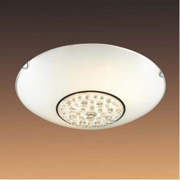 Потолочный светильник Sonex Lakrima 128/K, хром, белый, металл, стекло