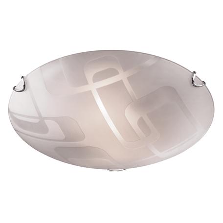 Потолочный светильник Sonex Halo 157/K, 2xE27x60W, хром, матовый, прозрачный, металл, стекло