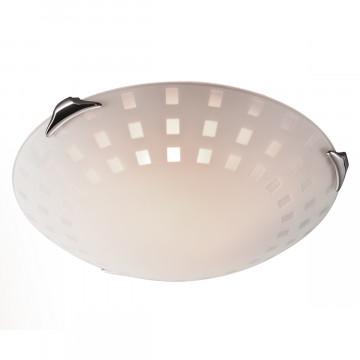 Потолочный светильник Sonex Quadro White 162/K, 2xE27x60W, хром, белый, металл, стекло