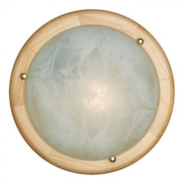 Потолочный светильник Sonex Alabastro 172, 1xE27x100W, коричневый, белый, дерево, стекло