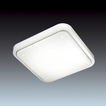Потолочный светодиодный светильник Sonex Kvadri 2014/C, IP43, LED 28W 4000K 1419lm, белый, металл, пластик - миниатюра 4