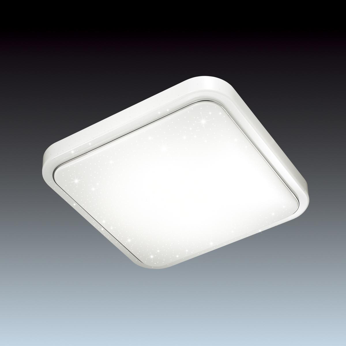 Потолочный светодиодный светильник Sonex Kvadri 2014/C, IP43, LED 28W 4000K 1419lm, белый, металл, пластик - фото 4