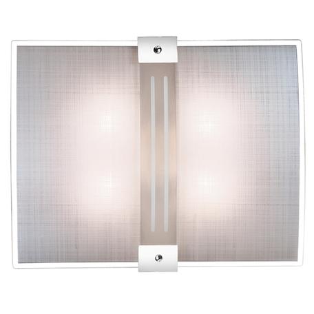 Потолочный светильник Sonex Deco 2110, 2xE27x60W, синий, хром, матовый, прозрачный, металл, стекло