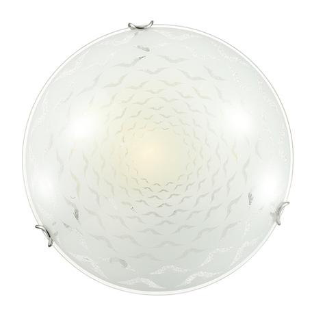 Потолочный светильник Sonex Dori 219, 2xE27x100W, хром, матовый, прозрачный, металл, стекло - миниатюра 1
