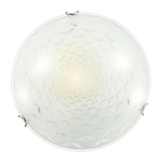 Потолочный светильник Sonex Dori 219, 2xE27x100W, хром, матовый, прозрачный, металл, стекло - фото 1