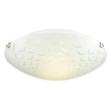 Потолочный светильник Sonex Dori 219, 2xE27x100W, хром, матовый, прозрачный, металл, стекло - миниатюра 3