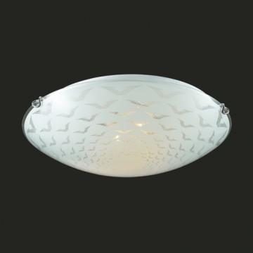 Потолочный светильник Sonex Dori 219, 2xE27x100W, хром, матовый, прозрачный, металл, стекло - миниатюра 4