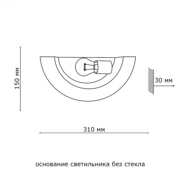 Схема с размерами Sonex 021