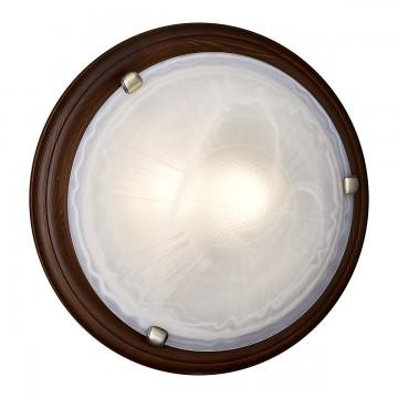 Настенно-потолочный светильник Сонекс 136/K Lufe Wood, тёмный орех, белый матовый - миниатюра 2