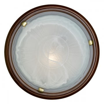 Настенно-потолочный светильник Сонекс 136/K Lufe Wood, тёмный орех, белый матовый - миниатюра 3