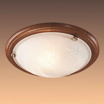 Настенно-потолочный светильник Сонекс 136/K Lufe Wood, тёмный орех, белый матовый - миниатюра 4