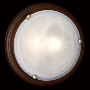 Настенно-потолочный светильник Сонекс 136/K Lufe Wood, тёмный орех, белый матовый - миниатюра 6
