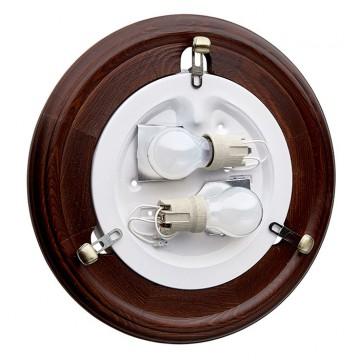 Настенно-потолочный светильник Сонекс 136/K Lufe Wood, тёмный орех, белый матовый - миниатюра 8