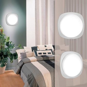Потолочный светодиодный светильник Sonex Pal 2019/B, IP43, LED 24W 3800K (дневной), черный, белый, металл, пластик