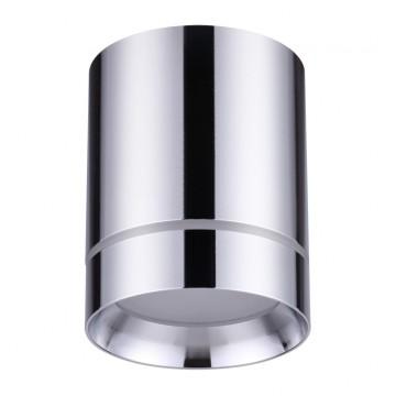 Потолочный светодиодный светильник Novotech Arum 357905, LED 9W 3000K (теплый), хром, металл, пластик