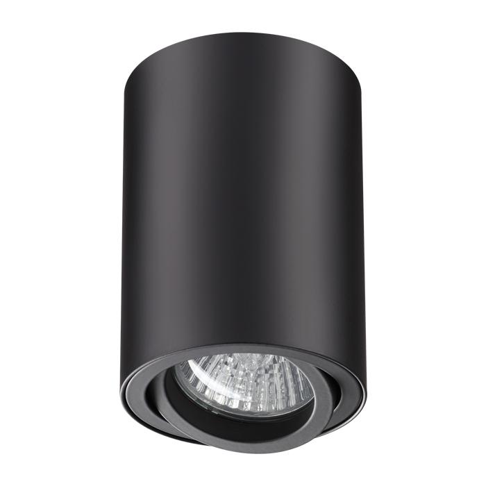 Потолочный светильник Novotech Pipe 370418, 1xGU10x50W, черный, металл - фото 1