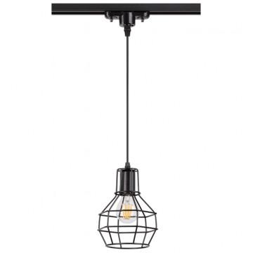 Подвесной светильник для шинной системы Novotech Zelle 370423, 1xE27x50W, черный, металл