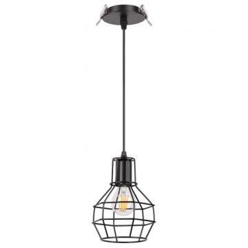 Встраиваемый подвесной светильник Novotech Zelle 370424, 1xE27x50W, черный, металл