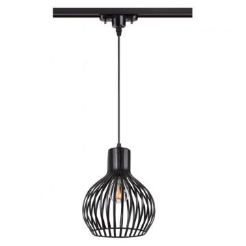 Подвесной светильник для шинной системы Novotech Zelle 370425, 1xE27x50W, черный, металл