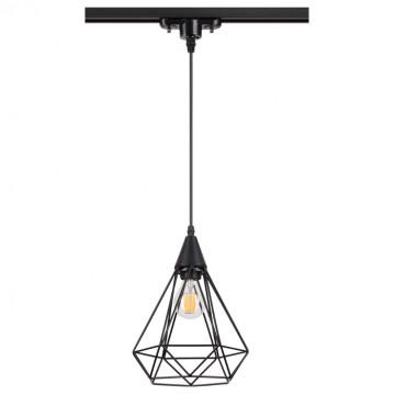 Подвесной светильник для шинной системы Novotech Zelle 370421, 1xE27x50W, черный, металл