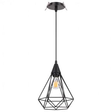 Встраиваемый подвесной светильник Novotech Spot Zelle 370422, 1xE27x50W, черный, металл