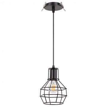 Встраиваемый подвесной светильник Novotech Spot Zelle 370424, 1xE27x50W, черный, металл