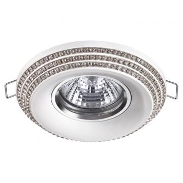 Встраиваемый светильник Novotech Lilac 370440, 1xGU10x50W, белый, прозрачный, металл, стекло