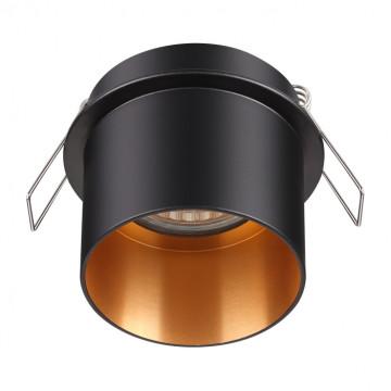 Встраиваемый светильник Novotech Spot Butt 370431, 1xGU10x50W, черный, металл