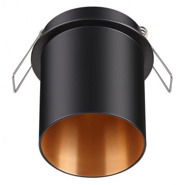 Встраиваемый светильник Novotech Spot Butt 370433, 1xGU10x50W, черный, металл