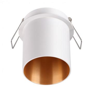 Встраиваемый светильник Novotech Spot Butt 370434, 1xGU10x50W, белый, металл