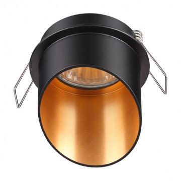 Встраиваемый светильник Novotech Spot Butt 370435, 1xGU10x50W, черный, металл