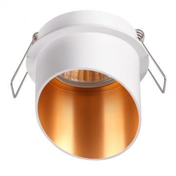 Встраиваемый светильник Novotech Spot Butt 370436, 1xGU10x50W, белый, металл