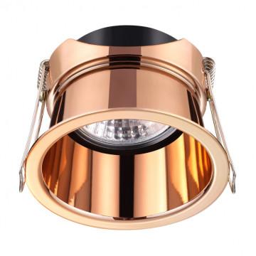 Встраиваемый светильник Novotech Spot Butt 370450, 1xGU10x50W, медь, металл