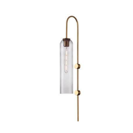 Бра ST Luce Callana SL1145.341.01, 1xE27x60W, золото, дымчатый, металл, стекло