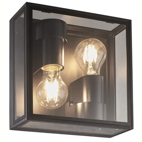 Настенный светильник Mantra Verbier 7065, IP65, 2xE27x20W, серый, прозрачный, стекло