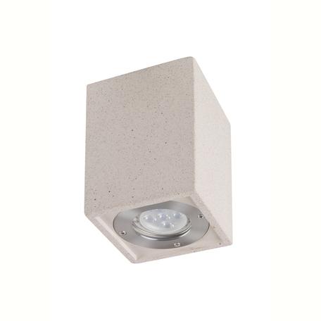 Потолочный светильник Mantra Levi 7186, IP65, 1xGU10x12W, белый, бетон